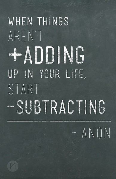 Subtraction.
